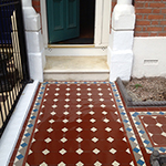 Victorian path with encaustic tiling: Image 15 of 19