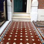 Victorian path with encaustic tiling: Image 16 of 19
